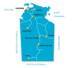 territories of australia map northern territory australian cruise association