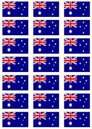 Austailia Flag Australia Flag Stickers 21 Per Sheet