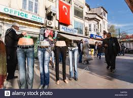 Flag People Street Scene With Turkish Flag People And Jeans For Sale On Stock