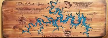 table rock lake map table rock lake map laser engraved and hand painted on