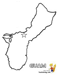 Guam Flag Guam Flag Coloring Pages