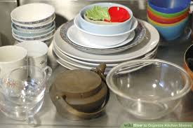 How To Arrange Kitchen How To Organize Kitchen Shelves 7 Steps With Pictures Wikihow