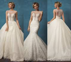two wedding dresses lace wedding dresses with mermaid two pieces detachable skirt