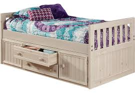 Twin Captains Bed With Drawers Creekside Stone Wash 3 Pc Twin Captain U0027s Bed Twin Beds