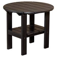 Adirondack Coffee Table - outdoor little cottage classic round adirondack side table lcc