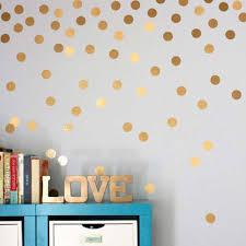 polka dots spot wall sticker gold polka dots spot wall sticker