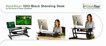 the deskriser by the house of trade and deskriser is a heavy duty sit to stand adjule height standing desk that helps promote better posture