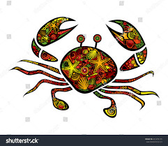 vector colored stylized crab isolated on stock vector 431255179