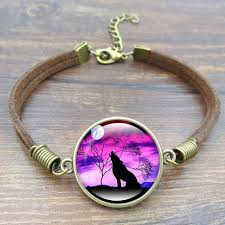 diy necklace vintage images Buy howling wolf moon charm bracelet fashion jpg