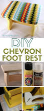 how to diy a chevron foot rest the crafty blog stalker