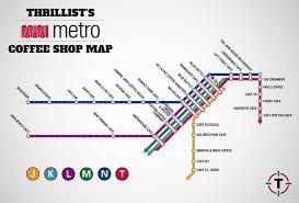 San Francisco Metro Map by Sf Muni Metro Coffee Shop Map Visual Ly