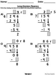 digit divided by 1 digit scaffolded long division fluency worksheets