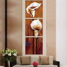 3 piece modern canvas wall oil paintings antique flower home