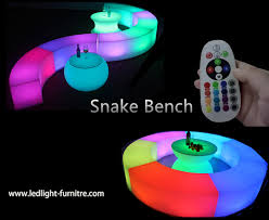 snake led light bar snake led light bench rechargeable for outdoor party decoration