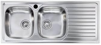 lavello cucina acciaio inox lavello incasso lavandino 2 vasche sx cm 116 x 50 modello siros in
