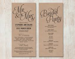 simple wedding programs simple wedding program customizable by paperroutecollective