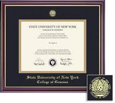 frames for diplomas diploma frames suny geneseo bookstore