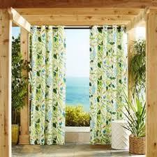 Tropical Curtain Panels Pair Of Capri Tropical Curtains Panel Drapes 96