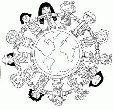 world coloring page coloring download children of the world