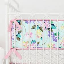 Pastel Crib Bedding Gold And Pastel Floral Crib Bedding Set By Caden