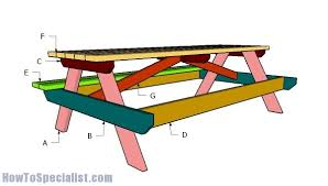 8 foot picnic table plans 8 foot picnic table plans howtospecialist how to build step by