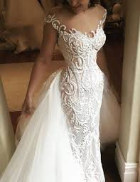 beaded wedding dresses fabulous illusion neck mermaid lace beaded wedding dress
