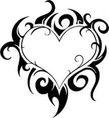 coloring pages of a heart heart with flames how to draw a heart with wings and flames