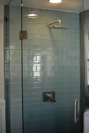light blue glass tile glass bathroom cubicle glass bathroom tile