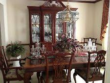 chippendale dining room set ethan allen mahogany furniture ebay