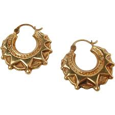 creole earrings 9k gold revival creole earrings eclectic collections