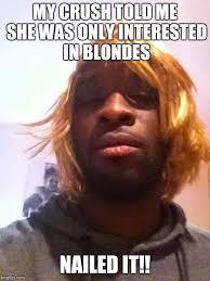Funny Blonde Memes - blonde wig fail imgflip