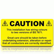buy caution harmonisation labels harmonised cable colour stickers