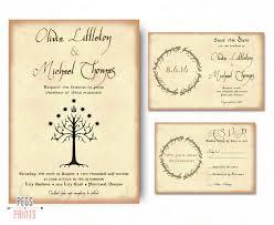 Wedding Invitation Cards In Nigeria Geek Wedding Invitation Set Lord Of The Rings Wedding