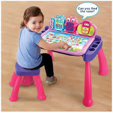 vtech table touch and learn ready stock price reduced limited pink color vtech touch and