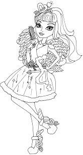 monster high coloring books c a cupid ever after high coloring page png 862 1600 childrens