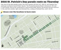 Cleveland Zip Code Map by Cleveland St Patrick U0027s Day Parade Map And Live Video Cleveland Com