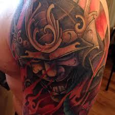 shoulder tattooo sick samurai shoulder piece by artist vic back tattoos tattoo