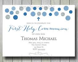 communion invitations for boys gray baptism invitations printable blue gray chevron baptism