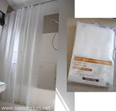 Bath And Shower Liners How To Make Any Curtain Into A Shower Curtain Jenna Burger