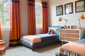 blue and orange bedding rosenheck blue and orange boys bedroom with orange curtains with