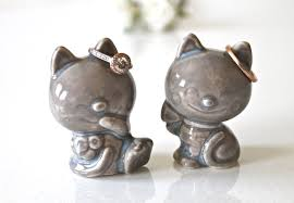 cat wedding cake topper handmade cat wedding cake topper ceramic cat
