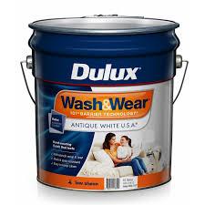 dulux wash u0026wear 15l antique white usa low sheen paint bunnings