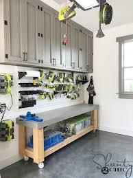 kreg cabinet hardware jig diy cabinets for a garage workshop or craft room shanty 2 chic