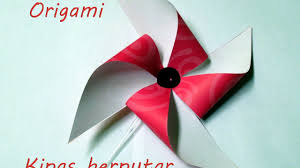 cara membuat origami kincir angin cara melipat origami kincir angin sederhana youtube