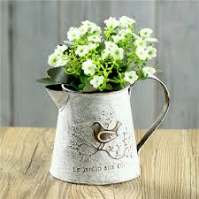 Galvanised Vases Aliexpress Com Buy Iron Classical Vintage Vase French Style Bird