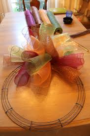 fall wreath ideas with mesh how to make a curly deco mesh wreath