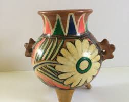 Clay Vase Painting Clay Vase Etsy