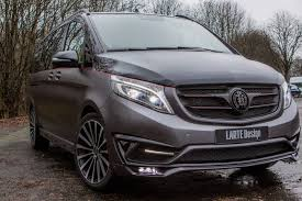 luxury minivan mercedes official larte design mercedes benz v class black crystal gtspirit
