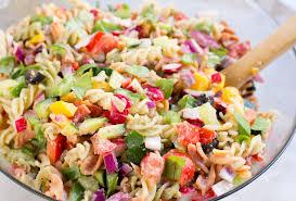 Cold Pasta Salad Dressing Rainbow Pasta Salad