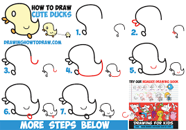 how to draw cute kawaii baby ducks cartoon ducklings in easy